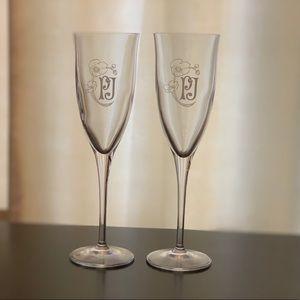 NWOT champagne flutes